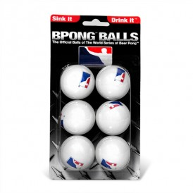 BPONG™ Beer Pong Balls – White, 6-Pack