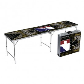 BPONG Signature Series:  Hydro74 Beer Pong Table – 8FT, Aluminum