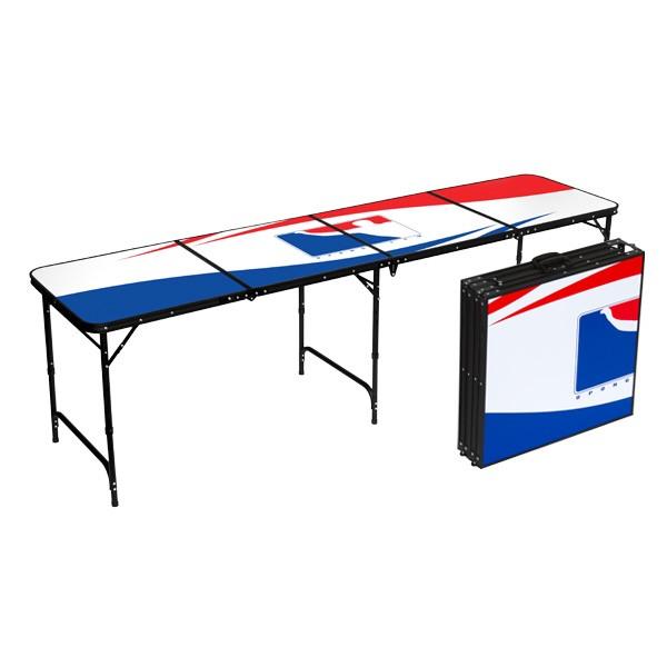 BPONG® Beer Pong Table – White, 8-FT, Aluminum