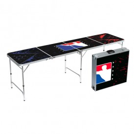 BPONG® Splatter Edition Beer Pong Table – 8-FT, Aluminum