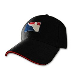 BPONG™ Fitted Hat - Black w/ Red Sandwich Peak 1