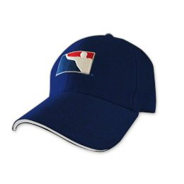 BPONG™ Fitted Hat - Navy w/ White Sandwich Peak 1