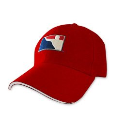 BPONG™ Fitted Hat - Red w/ White Sandwich Peak 1