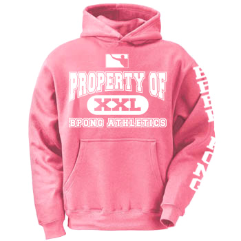 Property of BPONG Athletics Hoodie - Pink 1