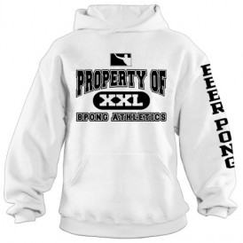 Property of BPONG Athletics Hoodie - White 1