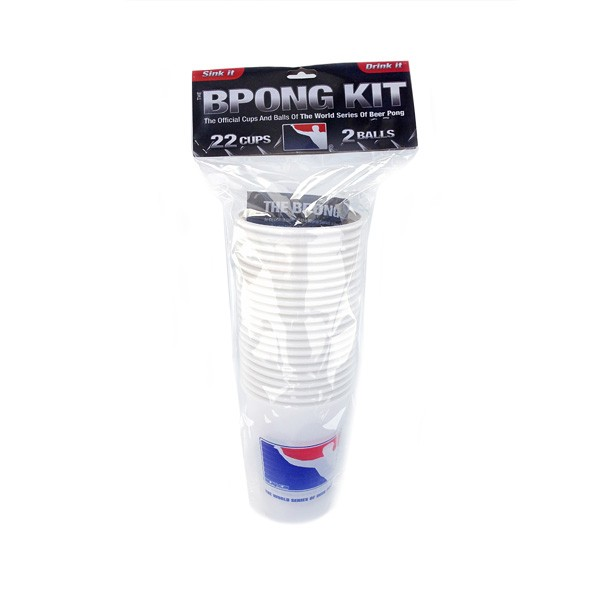 BPONG™ Kit – 22 Cups – 2 Balls