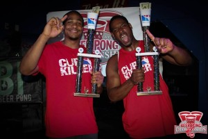 2015 Indiana State Beer Pong Champions: Gian Sutton & Jermaine Anderson